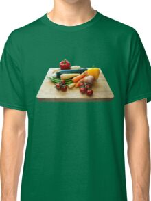 Vegetable Selection on Wooden Board Classic T-Shirt