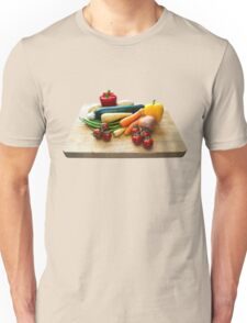 Vegetable Selection on Wooden Board Unisex T-Shirt