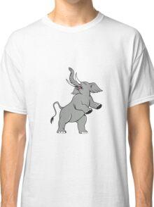 Elephant Prancing Isolated Cartoon Classic T-Shirt