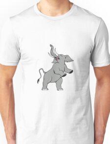 Elephant Prancing Isolated Cartoon Unisex T-Shirt