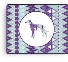 Greyhound Geometri Canvas Print