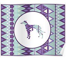 Greyhound Geometri Poster