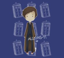 cute 10th Doctor and the TARDIS by koroa