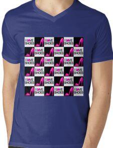CHIC AND TRENDY I LOVE SHOES DESIGN Mens V-Neck T-Shirt