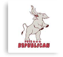 Vote Republican Elephant Mascot Cartoon Canvas Print