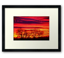 Fire In The Soul Sunrise Framed Print