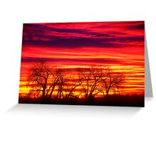 Fire In The Soul Sunrise Greeting Card