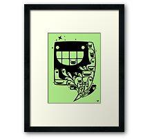 Happy Inside - 1-Bit Oddity - Black Version Framed Print