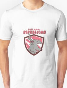 Vote Republican Elephant Mascot Shield Cartoon T-Shirt