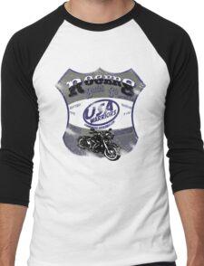 usa warriors motorcycle by rogers bros Men's Baseball ¾ T-Shirt