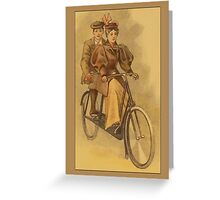 Vintage Tandem Bike Greetings Greeting Card
