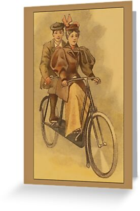 Vintage Tandem Bike Greetings by Yesteryears