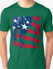 Drops Splash Colors America Flag  T-Shirt