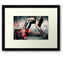 A Lovely-Legged Woman Framed Print
