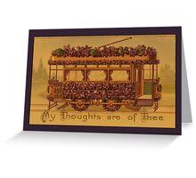 Vintage Trolley Car Greetings Greeting Card
