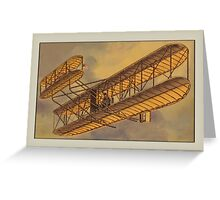 Vintage Bi-Plane Greetings Greeting Card