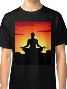 Male Yoga Meditating Classic T-Shirt