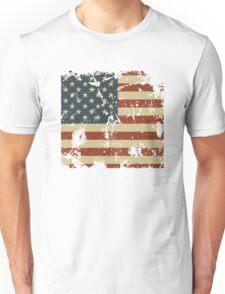 America Patriotic Grunge Flag  Unisex T-Shirt