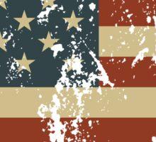 America Patriotic Grunge Flag  Sticker