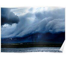 Icelandic Cloud Scape Poster