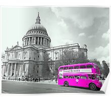 Pink Routemaster Poster