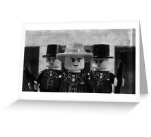 Lego Gangster Noir Greeting Card