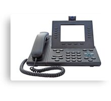 VoIP Phone with Blank Display Canvas Print