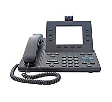 VoIP Phone with Blank Display Photographic Print