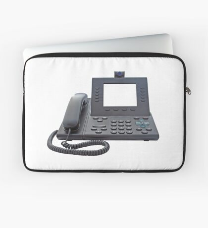 VoIP Phone with Blank Display Laptop Sleeve