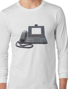 VoIP Phone with Blank Display Long Sleeve T-Shirt
