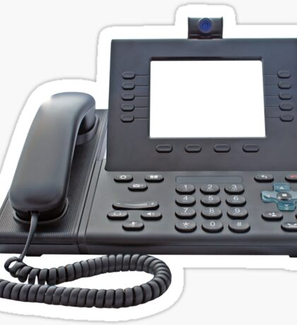 VoIP Phone with Blank Display Sticker