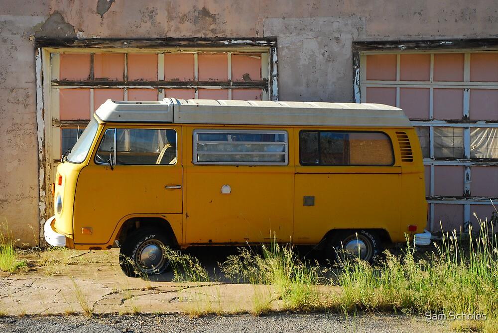 Yellow Volkswagen Van by Sam Scholes