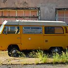 Yellow Volkswagen Van by Sam Scholes