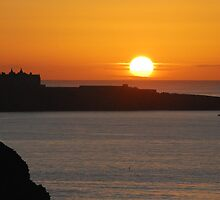 Sunset over the Headland by DMHotchin