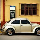 Gold Volkswagen Retro Beetle by Sam Scholes