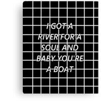 Drag Me Down - Black Grid Canvas Print