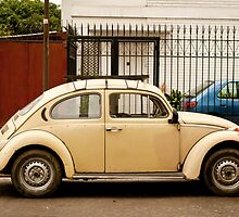 Tan Volkswagen Beetle by Sam Scholes