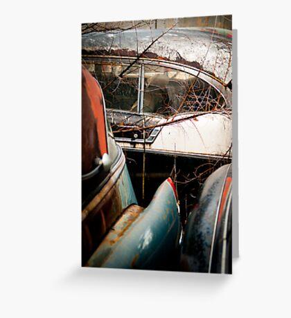 Classic Car Ruins Greeting Card