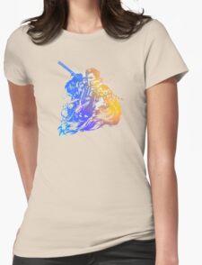 Auron Emblem (Black) Womens Fitted T-Shirt