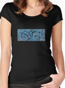 Fractal interior Women's Fitted Scoop T-Shirt