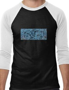 Fractal interior Men's Baseball ¾ T-Shirt
