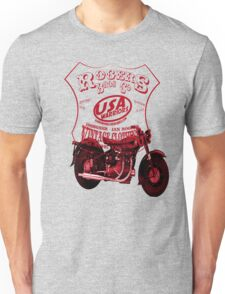 usa warriors motorcycle by rogers bros T-Shirt
