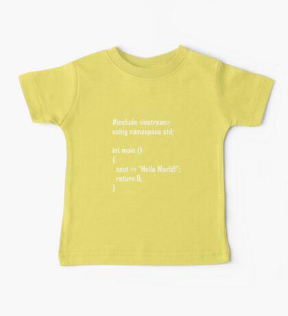 Hello World! C++ Baby Tee