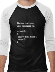 Hello World! C++ Men's Baseball ¾ T-Shirt