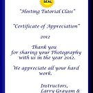 Certificate HTC by Ann Warrenton