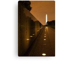 Vietnam Washington Memorial Canvas Print