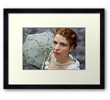 Lady with umbrella Framed Print