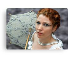 Lady with umbrella Canvas Print
