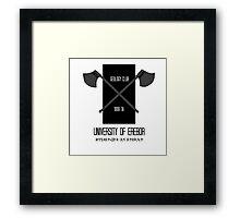 University of Erebor Framed Print