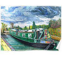 Jon Allen's Narrow Boat Poster